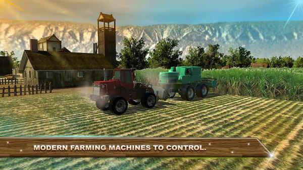 农业拖拉机3D图1