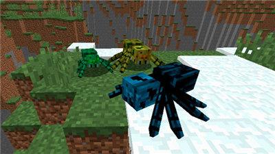 我的世界更多种类的蜘蛛 Much More Spiders Mod图3